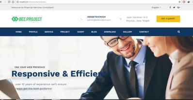 Website Company Profile Codeigniter