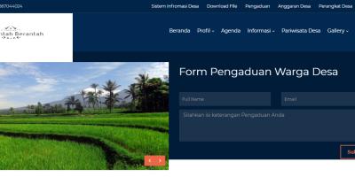 download template website desa